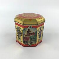 Vintage Scholler Lebkuchen Tin Gingerbread Cookie Biscuit Box Hinged Lid Empty