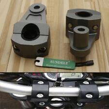 "UK 7/8"" 22mm Grey Motorcycle Handlebar Riser Clamp Aluminum Handle Mount Bracket"