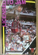 RARE MICHAEL JORDAN BULLS  LICENSED TO JAM 1990 VINTAGE NBA STARLINE POSTER