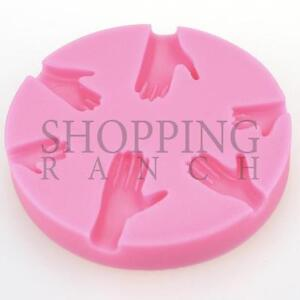 Hand Impression Silicone Mould Cupcake Cake Body Topper Fondant Tool