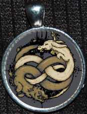 Neverending Story Luck Dragon Auryn Atreyu Falkor Gmork Nothing Pendant Necklace