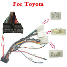 Car 2Din Radio Stereo ISO Wiring Harness Plug Loom Connector Adapter Cable Kit F