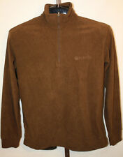 Beretta Mens Micro Fleece Brown Long Sleeve 1/2 Half Zip Hunting Jacket Sz M New