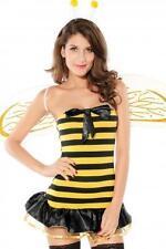 WOMEN FLIRTY YELLOW & BLACK BUSY BEE FANCY DRESS COSTUME SET ONE SIZE FITS 6-10