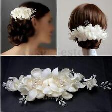Bridal Wedding Bridesmaid Prom Hair Clip Fauxl Pearl Flower Hair Comb Tiara USA