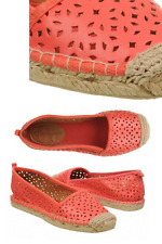CORSO COMO Flat Espadrille  Perforated Leather Shoe Ballet Loafer 9.5 MULEADY