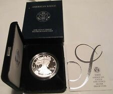2005 W American Silver Eagle Proof U.S. Mint Box  COA 1 OZ Silver Proof