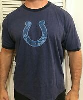 Reebok Indianapolis Indy Colts Camo Horseshoe NFL Ringer T Shirt Men's XL