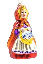 Department 56 Mercury Glass Ornament Little Red Riding Hood 6.75""