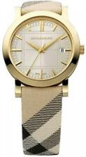 Burberry BU1398 Check Engraved Dial Check Strap 38mm Case Women's Watch