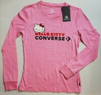 Converse X Hello Kitty Collection Premium Long Sleeve Shirt Pink XS S M L NWT