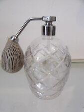 Vaporisateur à parfum cristal taillé saint Louis (crystal perfume spray)