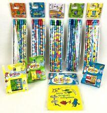 Lot of 9 Dr Seuss Pencils Erasers & Washi Tape Arts & Crafts School Supplies Fun