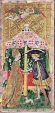 Visconti Tarot Cards deck Wicca THE LOVERS Wicca Print Poster