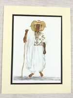 1965 Vintage Print Hausa People Gobir Farmer Traditional African Costume Nigeria