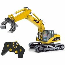 15 Channel Remote Control RC Fork Excavator Cruncher Demolish Grab Grapples Claw