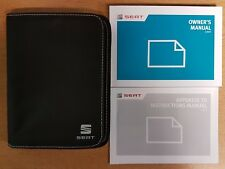SEAT LEON HANDBOOK FACELIFT COVERS + SC AND ST OWNERS MANUAL WALLET 2016 - 2018