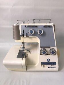 Husqvarna Viking Huskylock 341D Electronic Serger Sewing Machine And Foot Pedal