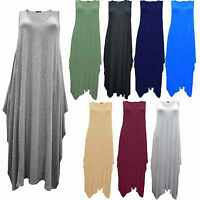 A36 Womens Asymmetric Italian Soft Touch Lagen look Cocoon Tunic Dress SIZE 8-14