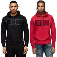 True Religion Men's Mirror Logo Reflection Pullover Hoodie Sweatshirt