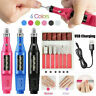 Nail Art Drill Kit Electric File Acrylic USB Portable Salon Machine Manicure Set