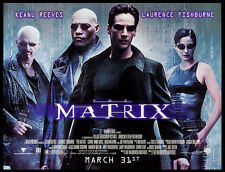 THE MATRIX KEANU REEVES WACHOWSKIS 1999 SUBWAY POSTER ROLLED