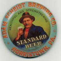 Standard Beer - Adam Scheidt Brewing Co - Beir Coaster - Norristown PA