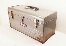 Vtg Craftsman Tool Utility Box Chest Carry Case Metal Socket Ratchet Storage