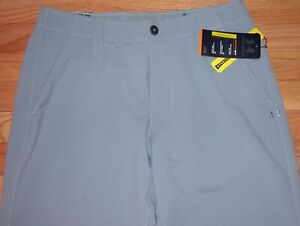 UNDER ARMOUR GOLF MATCH PLAY PANTS STEEL GRAY WHITE 30 x 36 36 x 32 1248089
