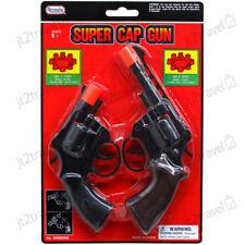 8 Ring Shot Cap Gun Police Series 2-Pack Pistol Revolver Black New Toy Replica