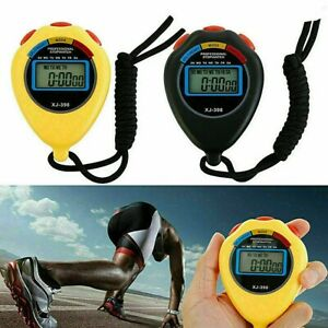 Digital LCD Stopwatch Chronograph Timer Counter Sports Alarm Water-Resistant