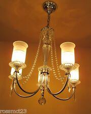 Vintage Lighting all original 1940s crystal chandelier