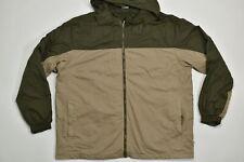Magellan 2XL Regular  Full Zip Jacket Hooded Winbreaker Jacket Green/Brown  Poly