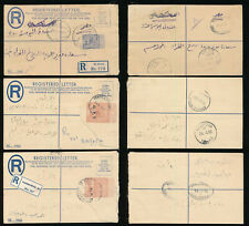 BRITISH EGYPT SUDAN REGISTERED STATIONERY HASAHEISA + DONGOLA + EL OBIED + OVAL