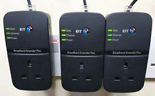More details for 3 x bt broadband extender flex 500 passthrough powerline adapters + 3 ethernet!