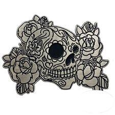 Pin's Biker épinglette Skull Muerta Flowers Roses Chopper sacoche moto