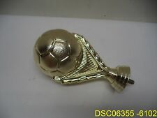 "Qty = 46: 5"" Soccer Ball Trophy Figure Gold 5013-G threaded stud to fit mount"