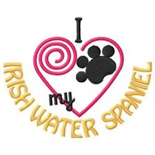 """I """"Heart"""" My Irish Water Spaniel Fleece Jacket 1365-2 Size S - Xxl"""