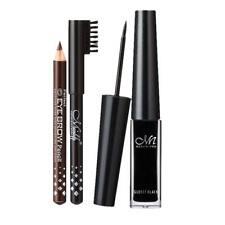 Eyeliner Eye-liner Liquide Etanche+2 Crayons à Sourcils Noir / Brun Durable