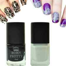 2Pcs/Set Nail Art Stamping Polish Black White Nail Stamp Varnish 6ml Born Pretty