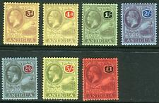 More details for antigua-1921-9 a mounted mint multi crown set to £1 sg 55-61