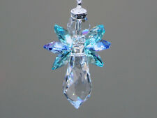 Caribbean Angel Crystal Suncatcher with Beautiful Swarovski Crystals and Prism