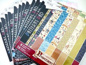"""Ciao Bella 12""""x12"""" Double-Sided Decorative Papers 190gsm - Choice Of Designs"""