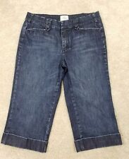 White House Black Market Blanc~Women's Size 10~Capri Denim Jean Cropped.