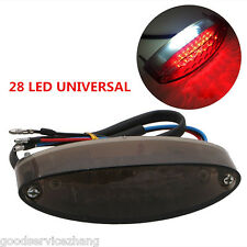 28 LED UNIVERSAL MOTORCYCLE REAR BRAKE STOP TAIL LIGHT LICENSE NUMBER PLATE LAMP