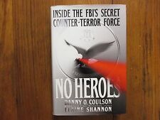 """ELAINE  SHANNON(Danny Coulson) Signed Book(NO HEROES""""-1999 1st Edition Hardback)"""