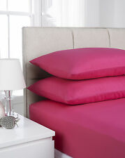 Impressions Fusion Soft Touch Microfibre Polyester Cerise Pillowcase Pair