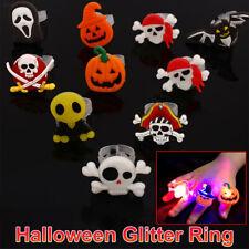 10 X Toy Finger Light Rings LED Ring Halloween Party Children Gift Devil Pumpkin