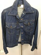 Sears Western Wear Denim Jean Jacket Mens Size 36R Vintage