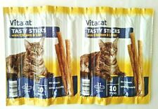 30 x Soft Chew Meat Sticks Treats For Cats And Kittens - Chicken & Liver Vitacat
